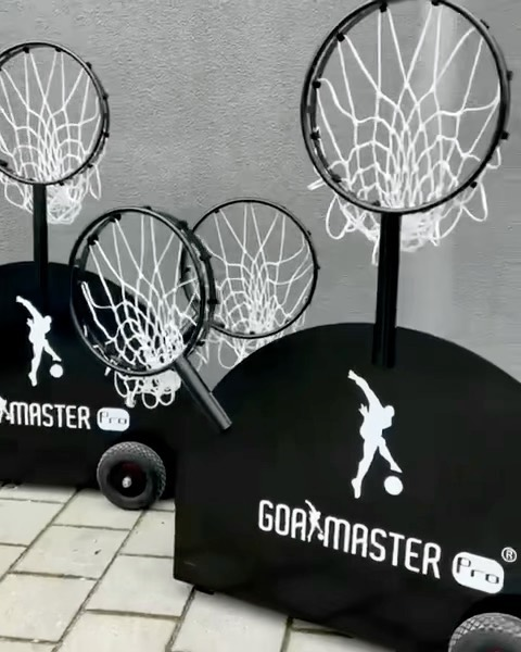 Both of our products are perfect football training devices to create multiple game situations and to improve soccer skills. The GOALMASTER PRO PLUS➕is more suitable for football clubs, schools and larger outdoor/indoor events‼️  Which model do you prefer? The PLUS ➕ or the PRO⚽️ Let us know in the comments👇🏽
